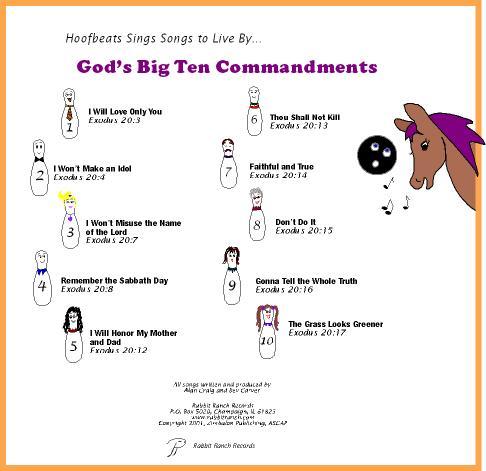 Pin Ten Commandments List Printable on Pinterest